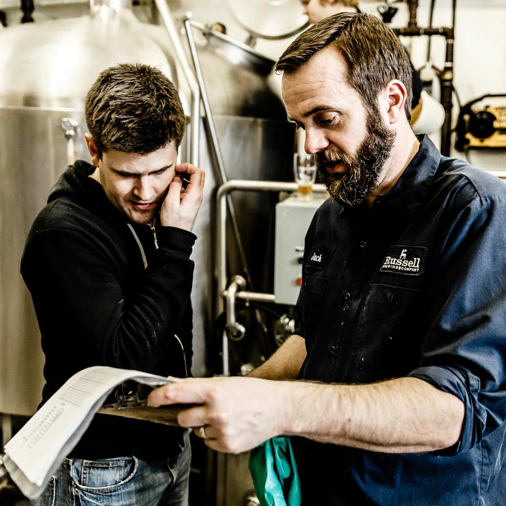 Me & Jack checking the brew schedule