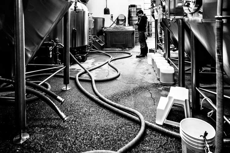 Down time in the brewhouse